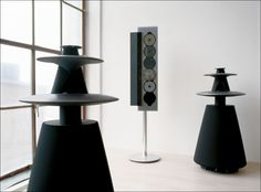 Bang & Olufsen Beolab 5 loudspeakers. These sound amazing. I wouldn't say no to the Beosound 9000 in the middle there either, even though I have no use for it at all...