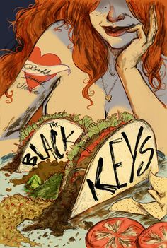 The Black Keys Illustration by Chelsey Curtin.