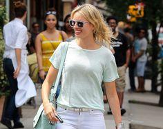 Any given day #outfits: Karolina Kurkova, en Nueva York