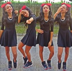 Dont like the headband but love the sneakers with that skirt