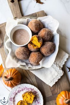Cinnamon Sugared Pumpkin Fritters | Crisp on the outside and moist, tender and pumpkiny on the inside, these Cinnamon Sugared Pumpkin Fritters are seasonally delicious! thebeachhousekitchen.com @thebeachhousek #dessert #sweets #fritters