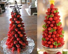 Árvore de natal feita de frutas. (Foto: Divulgação)