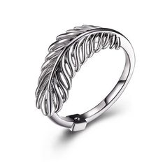 "Silver Elle ""PLUME"" Ring"