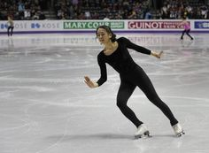Mao Asada competing for Japan practices at Budweiser Gardens in preparation for the 2013 World Figure Skating Championships in London, Ontario, Canada, March 12, 2013. Skaters from around the globe are preparing for the competition which starts March 13, 2013.