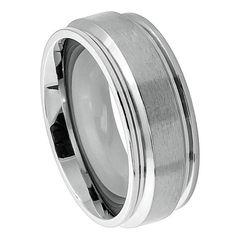 Hey, I found this really awesome Etsy listing at https://www.etsy.com/listing/181873428/titanium-wedding-band-ring-raised-brush