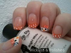 Orange Hello Kitty with #FrenchTipDip  Biggest. White. Ever.    1.12 fl. oz for $5 www.FrenchTipDip.com