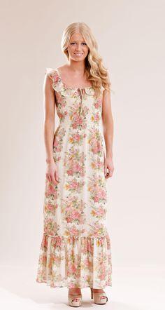 Rosario ruffle dress - White-Pink - Provrummet.se