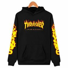 Unisex Hooded THRASHER Printed Color Block Long Sleeve Hoodie Sweatshirt with One Pocket Type: HoodiesNeckline: HoodedPattern Type: Letter,Color Block,PrintMat… Hoodie Sweatshirts, Pullover Hoodie, Sweater Hoodie, Men's Hoodies, Cotton Hoodies, Cheap Hoodies, Sweatshirt Outfit, Pullover Sweaters, Thrasher Sweatshirt