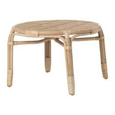 IKEA - MASTHOLMEN, Coffee table, outdoor, , Handmade by a skilled craftsman.Furniture made of natural fiber is lightweight, but also sturdy and durable.Plastic feet protect the furniture when in contact with a damp surface.