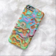 Funky Bright Colorful Retro Abstract 3D Swirl Waves Pattern iPhone 6 Case