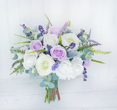 Lavender Sprays Bouquet, Silk Wedding Bouquet, Rustic Bouquet, Purple Bouquet, Boho Bouquet, Lilac Bouquet, Real Touch