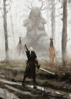 The Witcher - Just Another Day at Work by Jakub Rozalski