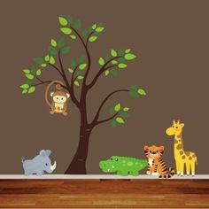 Reusable Jungle Animal Nursery ... this shop seems super easy to make custom orders