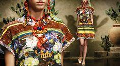 Dolce Woman Store - Sicilian Moor Print Trapeze Tunic Dress SS13