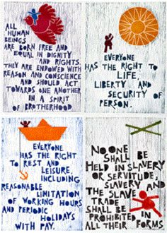 Human Rights Day - December 10 Human Rights Quotes, Human Rights Day, Social Issues, Social Work, Rights Respecting Schools, Declaration Of Human Rights, Protest Signs, We Are The World, Middle School Art