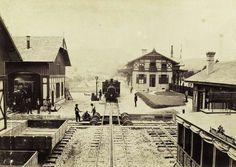 a Fogaskerekű végállomása. A felvétel 1880-1890 között készült. A kép forrását kérjük így adja meg: Fortepan / Budapest Főváros Levéltára. Levéltári jelzet: HU.BFL.XV.19.d.1.05.189