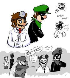Mario Fan Art, Super Mario Art, We Bare Bears Human, Rick And Morty Crossover, Mario Y Luigi, Yandere Manga, Nintendo Super Smash Bros, Luigi's Mansion, Paper Mario