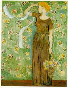 Spring by Vanessa Bell (painter and interior designer, sister of Virginia Woolf) Vanessa Bell, Virginia Woolf, Dora Carrington, Duncan Grant, Bell Art, Bloomsbury Group, Post Impressionism, Art Design, Figure Painting