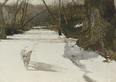 Andrew Wyeth (b. 1917) Race Run signed 'Andrew Wyeth' (lower right) watercolor on paper 22 x 30½ in. (55.9 x 77.5 cm.) Executed in 1969...
