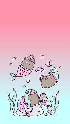 List of 40 best wallpapers in week 6 Kawaii Wallpaper, Cat Wallpaper, Cute Wallpaper Backgrounds, Wallpaper Iphone Cute, Pastel Wallpaper, Phone Backgrounds, Chat Pusheen, Pusheen Love, Cute Kawaii Drawings