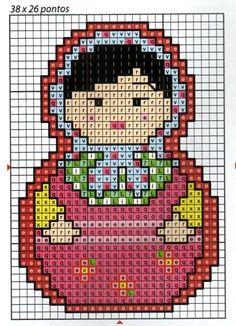 sandylandyaFree Matryoshka perler bead pattern