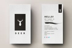 Minimal Business Card with Logo by Editeur Plus on @creativemarket