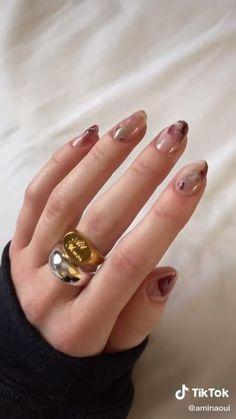 Stylish Nails, Trendy Nails, Nail Art Designs Videos, Nail Designs, Diy Nails, Swag Nails, Subtle Nails, Simple Acrylic Nails, Luxury Nails