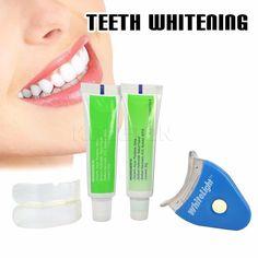 Ventes chaudes LED Blanc Lumière Blanchiment Des Dents Dent Blanchissant Santé Kit Dentifrice Oral Care Pour Les Soins Personnels Dentaire Livraison gratuite