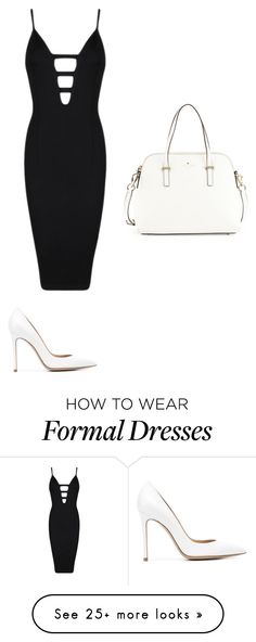"""""""Black and White Formal"""" by emilyfraser-x on Polyvore featuring Posh Girl, Gianvito Rossi and Kate Spade"""