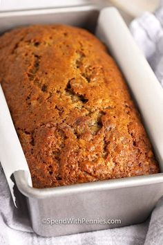 This homemade banana bread recipe is a classic quick bread everyone loves! It is so simple to prepare and makes a perfectly sweet and super moist treat! Super Moist Banana Bread, Homemade Banana Bread, Make Banana Bread, Chocolate Banana Bread, Banana Bread Recipe That Makes 2 Loaves, Peanut Butter Banana Bread, Chocolate Swirl, Healthy Banana Bread, Recipes