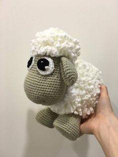 Crochet baby lamb toy crochet project shared on the LoveCrochet Community Baby Girl Crochet, Cute Crochet, Baby Blanket Crochet, Crochet Dolls, Knit Crochet, Crochet Sheep Free Pattern, Crotchet Patterns, Amigurumi Doll, Amigurumi Patterns