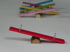 Fairy Garden Miniature Teeter Totter ONE SMALL for miniature garden or terrarium on Etsy, $7.74 CAD