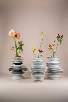 Hanna Krüger Transforms Rosenthal Porcelain into Lamps & Vases.