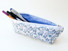Mermaid Cat Pencil Case Back to School Supply Mercat by 162PENS