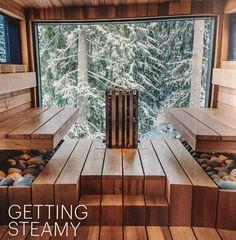 Sauna at the Lehmonkarki resort in Asikkala. Beauty Spa, Jacuzzi, Saunas, Russia, Bathrooms, Hotels, Cabin, Bon Voyage, Bathroom