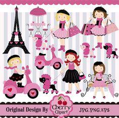 Paris Element Digital Clipart Set 2 Digital by Cherryclipart, $5.00