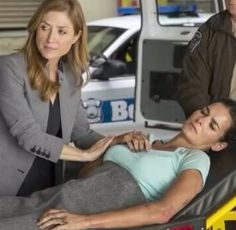 Maura with Jane after she's been shot in Season Four
