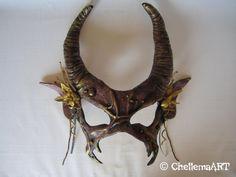 Labyrinth Ballroom Scene Inspired Mask van ChellemaART op Etsy, $155.00