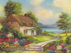 Küçük Dağ Evi | Doğa Manzara - Doğa ve Evler | Puzmo.com Puzzle ve Yapboz Oyunları