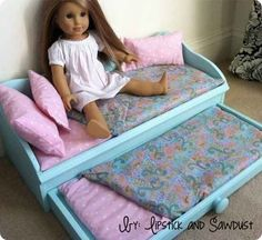 Trundle Bed | 39 American Girl Doll DIYs That Won't Break The Bank