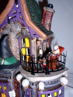 Dept. 56 - Bewitching Costume Shop, Witch on Balcony