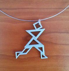3D printed  tangram; running man
