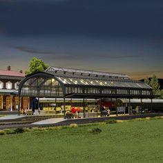 #verrière de #gare #HO #Kibri A retrouver ici : http://www.latelierdutrain.com/les-quais-et-passerelles-pietons/100141-verriere-de-gare-ho-1-87-kibri.html
