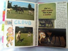 cloud's page in my smashbook *by trish muskus*