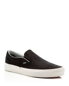 64e6a0d994 Vans Embossed Suede Classic Slip On Sneakers Converse