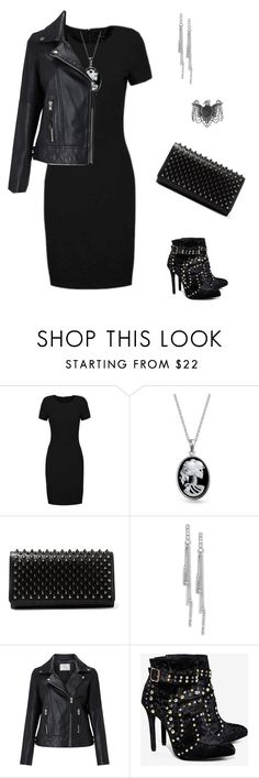 """black dress"" by yelo7705 ❤ liked on Polyvore featuring SELECTED, Bling Jewelry, Christian Louboutin, BCBGeneration, Minimum, Privileged and Steve Madden"
