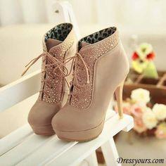 Vanilla heels ♥ #womens #fashion #boots #shoes @AllyLinden