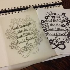 Traced and ready for transfer and cutting tomorrow eve after work ✂ #papercraft #papercutting #papercut #quotes #lettering #typography #personalised #motivationalquotes #shakespeare #etsyseller #handmade #handmadegifts #silhouette #flowers #infinity