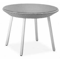 """100 Essentials Dreamy Dining Table Table Size: 29.56"""" W x 29.56"""" D, Finish: Pale Taupe"""