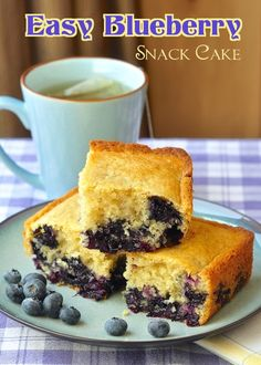 Blueberry Snack Cake - a.k.a. Baked Newfoundland Blueberry Duff - quicker even than a batch of muffins or cookies, this buttery moist simple cake is one of my favorite mid week bakes and has been made in my family for at least 50 years.